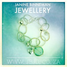 Oval link, handmade bracelet with Chalcedony