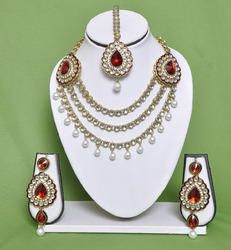 Fashionable Kurtis - Designer Kundan Necklace Set and Kundan Earrings Manufacturer and Exporter   Nexus Fashion Jewellery, Mumbai