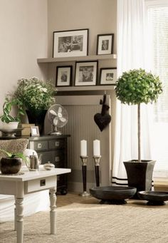 striking neutrals and black Interior Styling, Interior Decorating, Interior Design, Decorating Ideas, White Picture Frames, Favorite Paint Colors, Tuscan Style, Beautiful Kitchens, Home Living Room