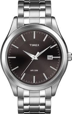 Timex Men's T2N801 Elevated Classics Dress Black Dial Two-Tone Stainless Steel Bracelet Watch