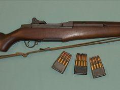 M1 Garand & 8-rnd clips M1 Garand, Man Stuff, Rifles, Firearms, Platforms, Knives, Weapons, Battle, Guns