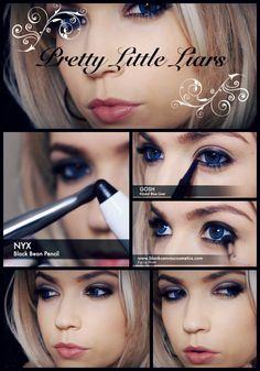 pretty little liars: Hanna make up tutorial step by step