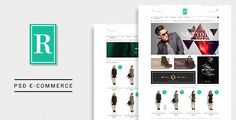 Royal E-Commerce PSD Template by zankover-n Features: 12 PSD included. 1170 grid system. Thought to be responsive Unique & Modern Design Vectore shape & Custom made buttons, Icons & table Clean & Elegant Img not included Fonts Roboto Merriweather Credits and Sources Icon -F