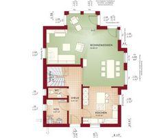 grundriss vom erdgeschoss eines gem tlichen kapit nshauses mit garage eco system haus. Black Bedroom Furniture Sets. Home Design Ideas