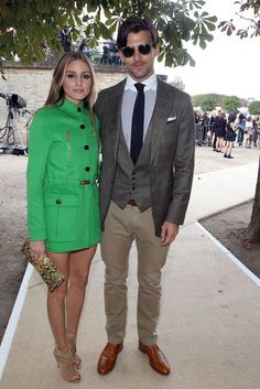 Olivia Palermo at the Valentino show in Paris. See all of the model's best looks.