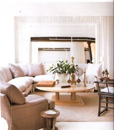 neutrals and clustered accents