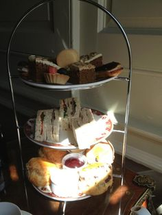 Lumley Castle, County Durham afternoon tea. Taken in the library with a glass of Prosecco - very reasonably priced in stunning historical surroundings