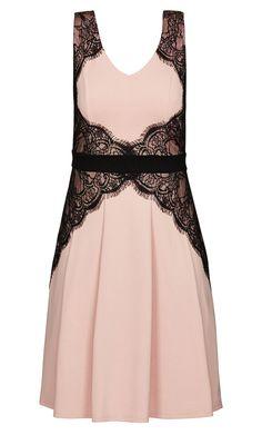 City Chic - LACE CORSET DRESS - Women's Plus Size Fashion