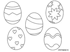 Easter Egg Coloring Page Free
