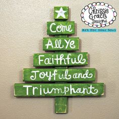 Christmas Tree Handmade Handpainted