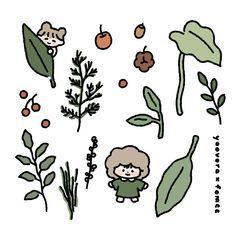 Cute Pastel Wallpaper, Kawaii Wallpaper, Kawaii Doodles, Cute Doodles, Printable Scrapbook Paper, Printable Stickers, Kawaii Stickers, Cute Stickers, Korean Stickers