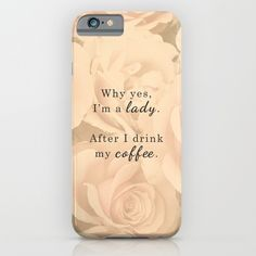 Lady After Coffee iPhone & iPod Case
