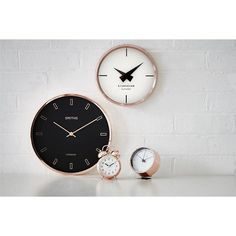 A beautiful classic style twin bell alarm clock, with a Lascelles dial, virtually silent sweep second hand, bright copper metal case and a very useful night light function. 12 x 9 x (Code: ALB/LASC/COPPER) London Clock, Copper Metal, Decoration, Alarm Clock, Night Light, Classic Style, Objects, Living Room, Clock