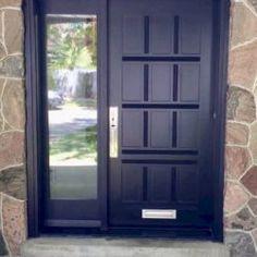 Side Light Entry Doors | Amberwood Doors Inc. Modern Wooden Doors, Wooden Main Door Design, Entry Doors, Entrance, Front Doors, Double Doors Exterior, New Homes, House Design, Ghana