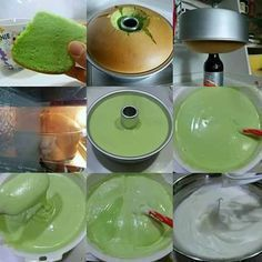 Baking cakes decoration peanut butter Ideas for 2019 Resep Cake, Pandan Chiffon Cake, Pandan Cake, Cake Recipes For Kids, Cookie Recipes, Donut Recipes, Resep Pastry, Bolu Cake, Recipes