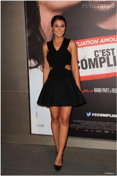 Emmanuelle Chriqui in a SS14 Jay Ahr dress attending the « Situation amoureuse, c'est compliqué » avant-première on Monday March, 17th