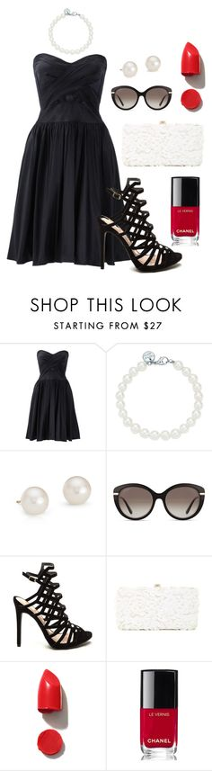 """Untitled #1"" by nata-blag ❤ liked on Polyvore featuring Notte by Marchesa, Tiffany & Co., Blue Nile, Salvatore Ferragamo, Deux Lux, NARS Cosmetics and Chanel"
