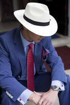 Men's Formal Outfit with Hat