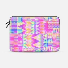 "Triangle Party 4 Macbook Pro 13"" sleeve by Miranda Mol 