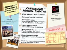 Queensland Musical Theatre - Community Corkboard interview on amywinner.com Musical Theatre Shows, Musicals, Interview, How To Apply, Community, Musical Theatre