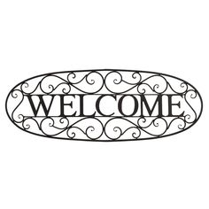 Fleur De Lis Living Benner Welcome Sign Wrought Iron Wall Décor Fish Wall Decor, Metal Wall Decor, Metal Wall Art, Metal Work, Metal Welcome Sign, Distressed Wood Wall, Wrought Iron Wall Decor, Medallion Wall Decor, 5 W