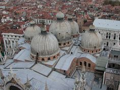 St. Mark's Cahedral Rooftop View -- San Marco - Venice, Italy