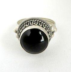 Vintage Black Onyx Braided Dome Sterling by LeesVintageJewels