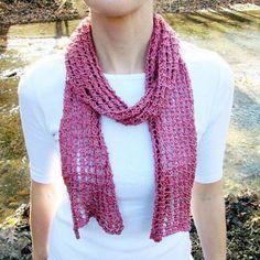 Loki's Net Mesh Lace Scarf Knitting Pattern