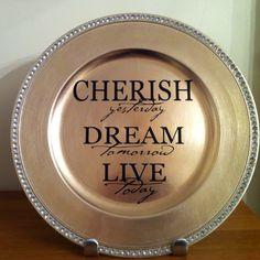 Turquoise Decorative Charger Plate With Home Family