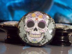 Sugar Skull Dresser Knobs $3.29 Ea / https://www.etsy.com/listing/196419009/mr-sugar-skull-dresser-knobs?ref=sr_gallery_36