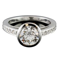 CARTIER Honeymoon Solitaire 1.6cts G-VS2 Platinum Diamond Ring at ...