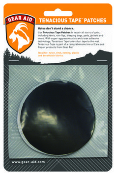 Toss Tenacious Tape Patches in your outdoor gear kit for a little extra peace of mind. Repairs camping gear, sleeping bags and pads, tents, clothing, vinyl rafts, down jackets—whatever needs a quick patch, so you can stay outside.