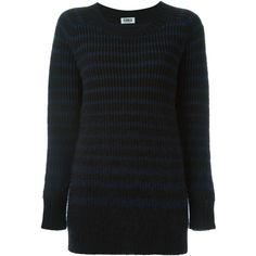 Sonia By Sonia Rykiel striped jumper ($289) ❤ liked on Polyvore featuring tops, sweaters, black, sonia by sonia rykiel, striped jumper, sonia by sonia rykiel sweater, jumper top and jumpers sweaters