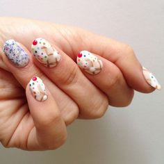 ice cream and sprinkles nails