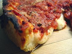 My favorite deep dish pizza--Lou Malnati's in Chicago Vegetable Entrees, Posh Nosh, Chicago Style Pizza, Butter Crust, Cuban Cuisine, Favourite Pizza, Love Pizza, Tasty Bites, Deep Dish