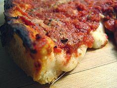 My favorite deep dish pizza--Lou Malnati's in Chicago Lou Malnati's Chicago, Vegetable Entrees, Posh Nosh, Chicago Style Pizza, Cuban Cuisine, Favourite Pizza, Love Pizza, Tasty Bites, Deep Dish