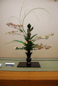 Ikebana Ikenobo, rikka style with pine and mapple | Flickr - Photo Sharing!