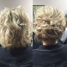 """54 Likes, 2 Comments - KellGrace (@kellgrace) on Instagram: """"Short hair CAN go up.  Kept the texture of this lady's hair..used loops and twists to create this…"""""""