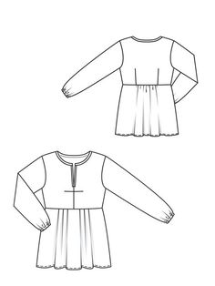133a_0113_b_large  Tunic pattern  Burda #133A     Print at home pdf $5.99  Recommended fabrics: Fine, lightweight blouse fabrics
