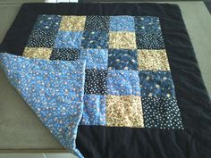 My babyquilt, 80 *80 cm.  not with the big blue border though