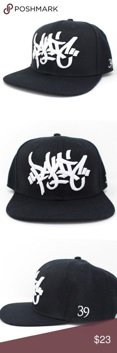 PANIC 39 The Oversized Tag Log Black Snapback Hat Brand NEW Hats are a Medium size Snapback not good for big heads Panic 39 Accessories Hats