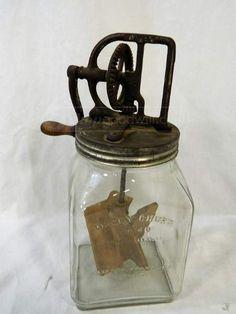 $82  SOLD---Antique/Vintage Dazey Churn No. 40 W/ Glass Base