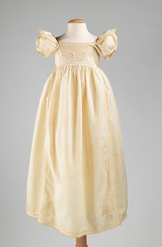 Infant's dress.  (with acknowledgment to http://www.metmuseum.org)