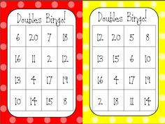 This is a fun way to help students gain automaticity with their doubles facts.  18 unique boards and +/- doubles calling cards as well. $