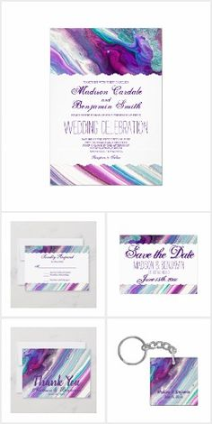 Purple Blue Swirl Wedding Invitation Set #weddinginvitationset #prettyweddinginvitations #uniqueweddinginvitations Wedding Invitations Online, Wedding Invitation Templates, Zazzle Invitations, Invitation Design, Aqua Wedding, Wedding Rsvp, Purple Coffee Mugs, Novelty Gifts, Wedding Thank You Cards