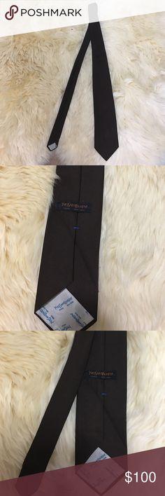 YSL Brown Tie Men's ysl brown tie vintage from when it was yves saint laurent Yves Saint Laurent Accessories Ties