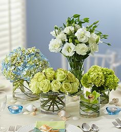 Personally delivered by the premier florists of 1800Flowers.com. This Blue and White Bridal Party Floral Package is simple elegance perfected. Get your rebate from RebateGiant