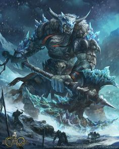 Ice elemental giant