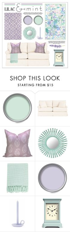 """""""lilac & mint"""" by lgb321 ❤ liked on Polyvore featuring interior, interiors, interior design, home, home decor, interior decorating, Ballard Designs, Florence Broadhurst, Surya and Holly's House"""