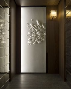 Intricate washi paper artworks by Tetsuya Nagata adorn each elevator at Andaz Tokyo  – Photo: Courtesy of Andaz Tokyo